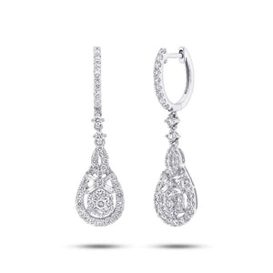 18k White Gold Diamond Earring - 1.50ct