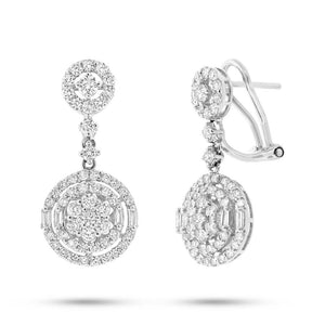 18k White Gold Diamond Earring - 1.80ct