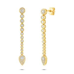 14k Yellow Gold Diamond Earring - 0.73ct