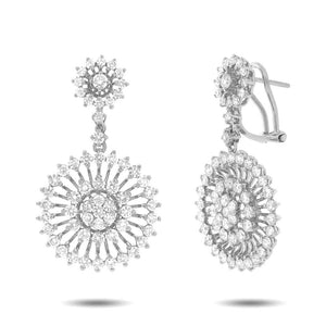 18k White Gold Diamond Earring - 4.45ct