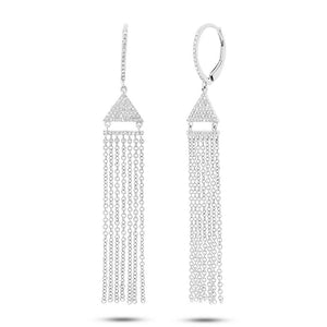 14k White Gold Diamond Fringe Earring - 0.30ct