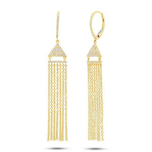 14k Yellow Gold Diamond Fringe Earring - 0.30ct
