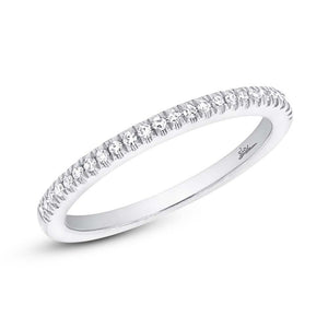 14k White Gold Diamond Lady's Band Size 8