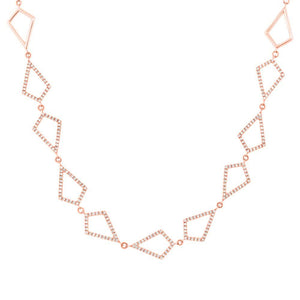 14k Rose Gold Diamond Pave Choker Necklace - 0.56ct