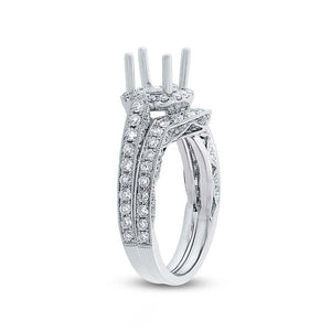 14k White Gold Diamond Semi-mount Ring 2-pc - 1.13ct