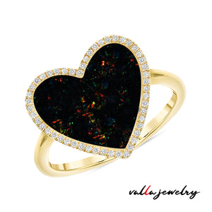 Black Onyx Heart Ring