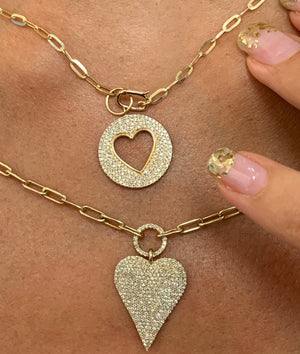 Dainty Empty Heart Necklace