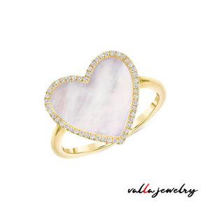 Mother of Pearl Heart Ring