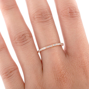 Tiny Baguette & Diamond Band Ring