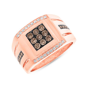 Unique Champagne Diamond Men's Ring