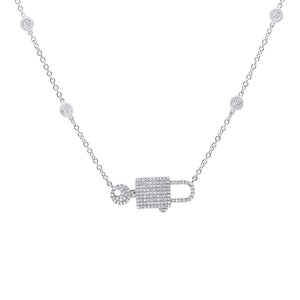 Pave Lock & Key Necklace