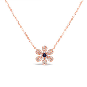 Flower Sapphire and Diamonds Necklace