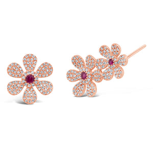 Flower Ear Crawler & Stud Earring