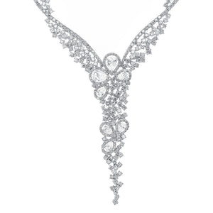 18K White Gold Beautiful Necklace