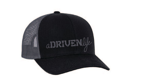 aDRIVENlife BaSICK Black and Grey Trucker Hat