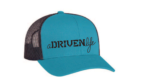 aDRIVENlife BaSICK Teal and Black Trucker Hat