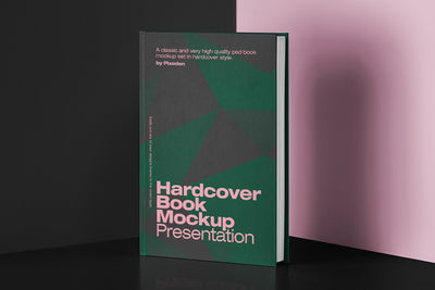 Realistic Hardcover PSD Mockup Front View