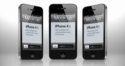 iPhone 4 psd Mockup Template