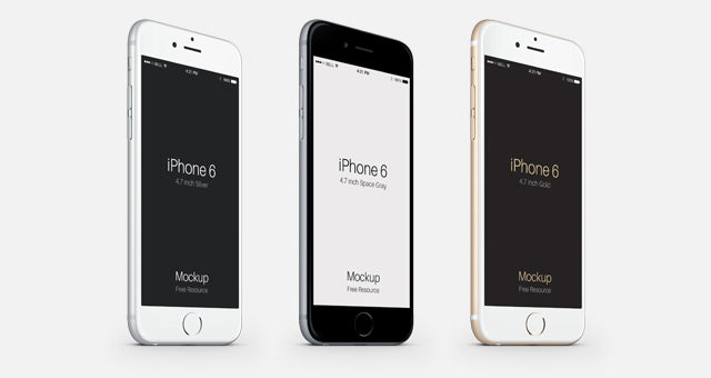 Set Of Iphone 6 Psd Vector Mockup Mockup Hunt