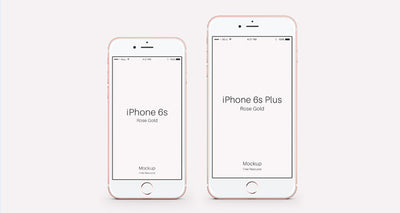 Set of iPhone 6s Psd Rose Gold Mockups