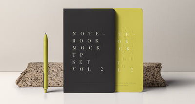 Collection of Notebook Psd Mockups
