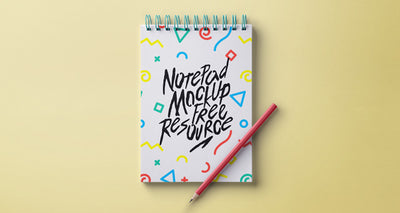 Ringed Notepad Design Mockup Psd