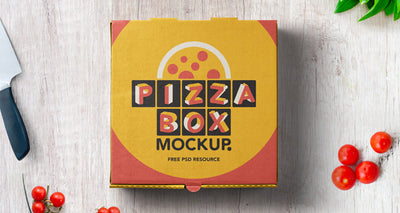 Pizza Box Pack Psd Mockup