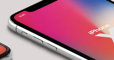 iPhone X Psd Mockup Isometric Top Front View
