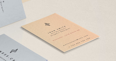 Side View of Business Card Mockup