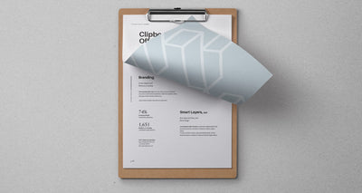 Top View of Psd Clipboard Stationery Mockup