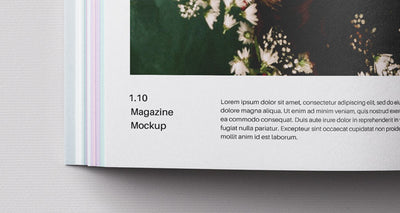 Square Psd Magazine Design Mockup