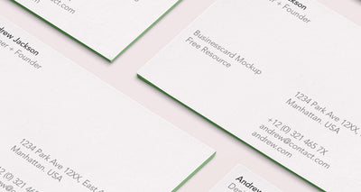 Psd Business Card Mock-Up Isometric View