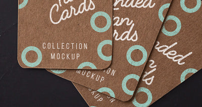 Psd Kraft Label Cards Mockup
