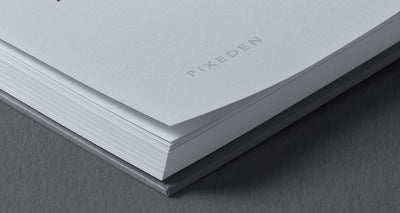 Perspective View of Square Psd Hardcover Book Mockup