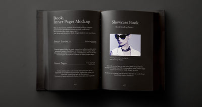 Top View of Hardback Book Inner Mockup Psd