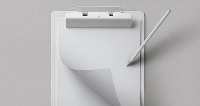 Top View of Clipboard Stationery Psd Mockup Design