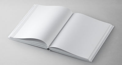 Isometric Top and Front View of a Perfect Book Mockup Psd