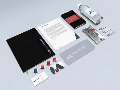 Isometric View of Branding or Identity MockUp