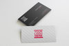 Set of Messy Business Card Mockups
