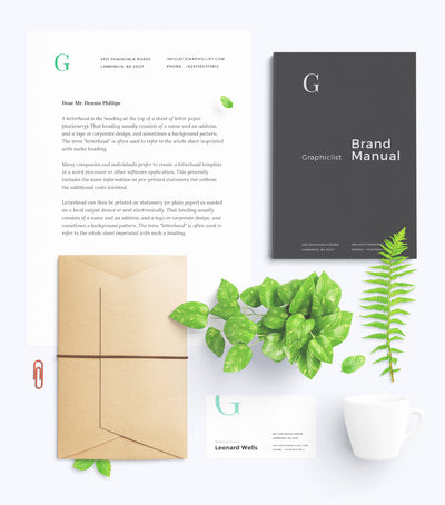 Spring Vibed Green Business Stationery and Branding Mockup Toolkit