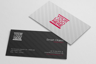2 x Vertical and Horizontal Business Card Mockups