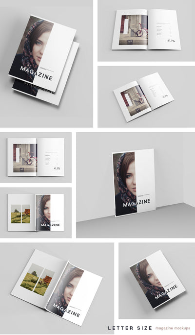 Clean Letter Size Magazine Mockup