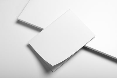 Editorial Mockup Set with Stationery Items Like Business Cards and A4 Paper