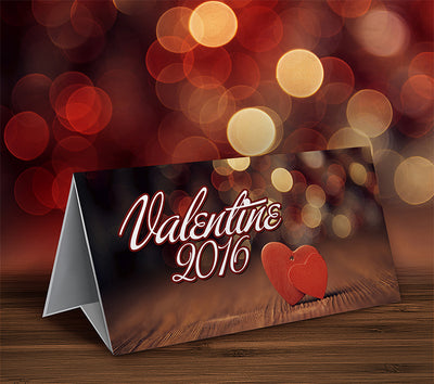 Valentine Table Top Paper Mockup