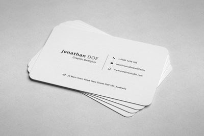 Rounded Professional Business Card PSD Mockup