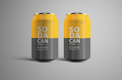 Soda Can PSD Mockup Pack