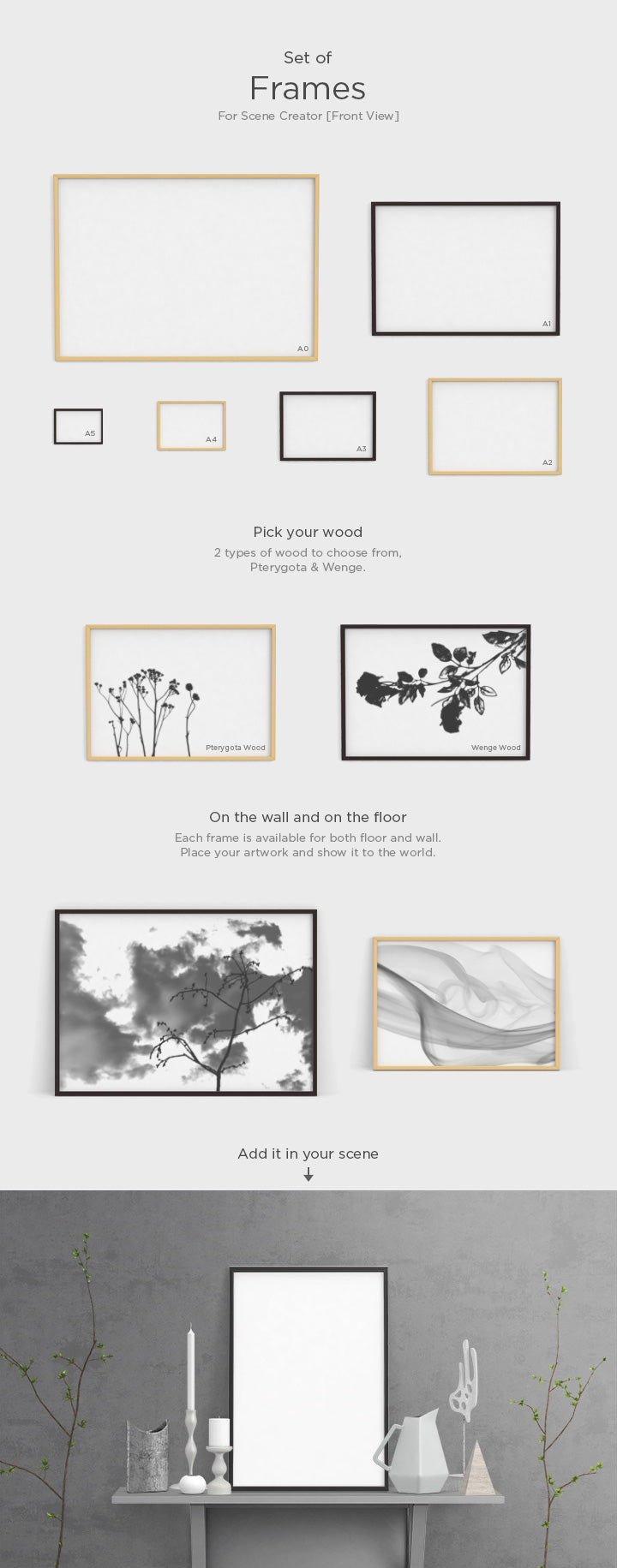 Set of Different Size Frames (Mockup) - Mockup Hunt