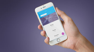 iPhone Mockup in a Hand with Transparent Background