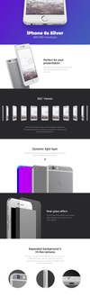 Detailed Silver iPhone Mockup