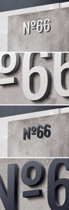 3D Concrete Wall Business Logo Sign MockUp